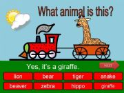 English powerpoint: What is this? - wild animals part 07