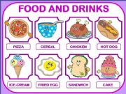 English powerpoint: FOOD AND DRINKS PRESENTATION!  20 FOOD ITEMS!
