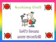 English powerpoint: Cooking Stuff!!