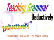 English powerpoint: Choose the way to teach grammar. PPT for Presentation!