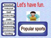 English powerpoint: Let´s have fun  sports