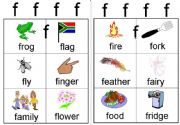 English powerpoint: f workcard