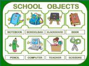 English powerpoint: SCHOOL OBJECTS PRESENTATION 24 ITEMS!