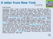 English powerpoint: A letter from New York