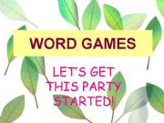 English powerpoint: word games!!!!