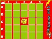 English powerpoint: The Weather. Memory Game.