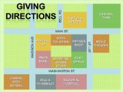 English powerpoint: Giving directions