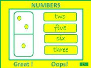 English powerpoint: Numbers from 1 to 10 GAME