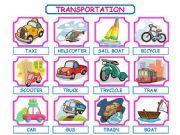 English powerpoint: TRANSPORTATION PRESENTATION!