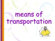 English powerpoint: means of transportation.