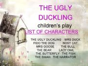 English powerpoint: children´s play - THE UGLY DUCKLING