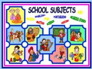 English worksheets: school subjects worksheets