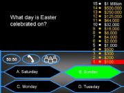 English powerpoint: Who wants to be a millionaire? - Easter Quiz