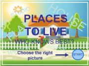 English powerpoint: Places to live PPT game