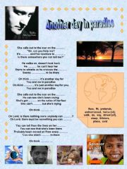English powerpoint: Phil Collins: Another day in paradise. Printable Song + Printable Flashcards + Printable Factsheet (Raising awareness).