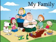English powerpoint: My Family mini poster