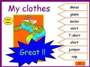 English powerpoint: Clothes.