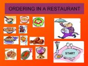 English powerpoint: GAME: ORDERING IN A RESTAURANT-Help the waiter