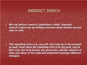 English powerpoint: Indirect Speech