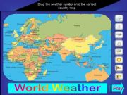 English powerpoint: WORLD WEATHER GAME
