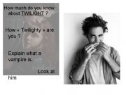English powerpoint: Discussion over TWILIGHT ^^