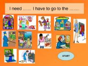 English powerpoint: GAME-Shops in the town