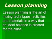 English powerpoint: Lesson planning