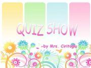 English powerpoint: quiz show
