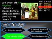 English powerpoint: THANKSGIVING 3 - WHO WANTS TO BE A MILLIONAIRE
