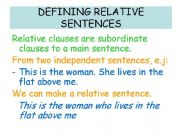 English powerpoint: Defining relative sentences