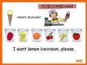 English powerpoint: FRUIT ICE CREAM + WS