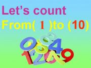 English powerpoint: numbers 1 to 10