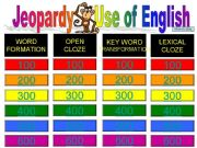 English powerpoint: Jeopardy - Use of English