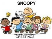 English powerpoint: GREETINGS WITH SNOOPY