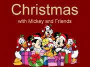 English powerpoint: Christmas with Mickey and Friends