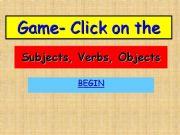 English powerpoint: Subject-verb-object game10 point