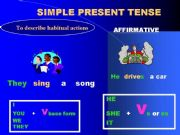 English powerpoint: Simple present tense
