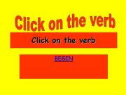 English powerpoint: find the verb competiton