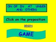 English powerpoint: pepositions  game