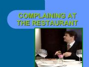 English powerpoint: Complaining at the restaurant