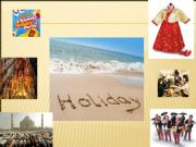 English powerpoint: holidays-- images and discussion questions