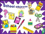 English powerpoint: School objects -  Dictionary  /with sounds/