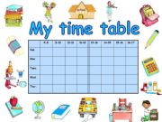 English powerpoint: My time table