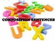 English powerpoint: Composition sentences
