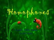 English powerpoint: homophone words