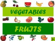 English powerpoint: Vegetables and fruits