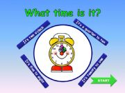 English powerpoint: What time is it? GAME