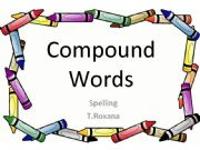 English powerpoint: compound words