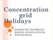 English powerpoint: Concentration Grid