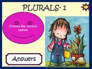 English powerpoint: PLURALS - GAME